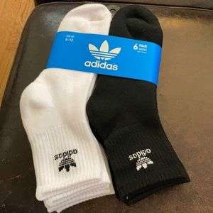 Adidas Originals Men's Quarter Crew Socks 6pk